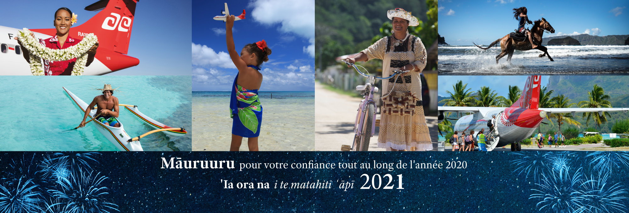Air Tahiti wish you a happy new year 2021 !