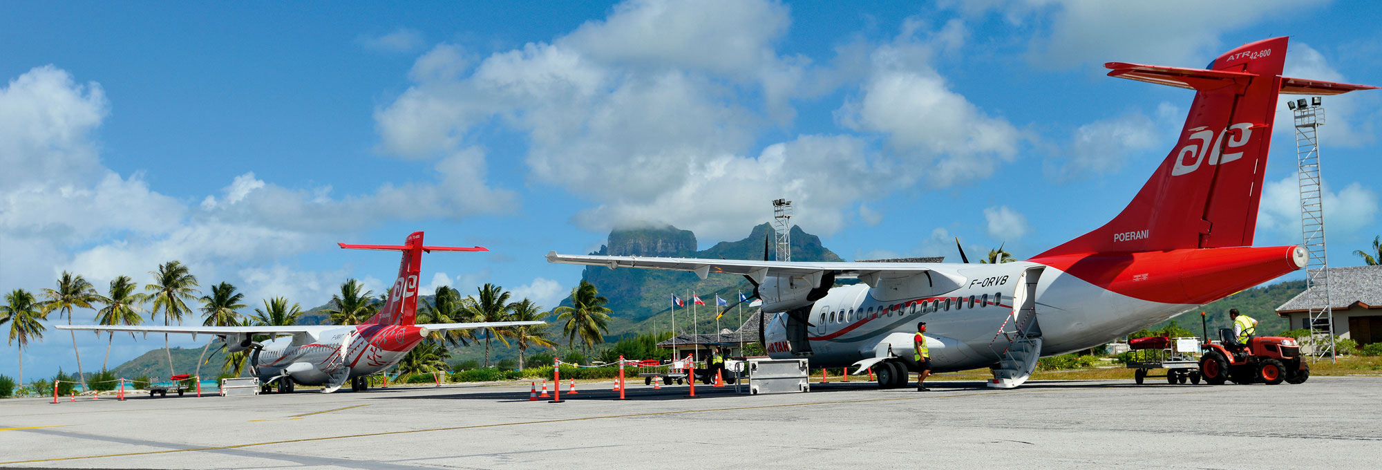 Air Tahiti aircraft on Bora Bora tarmac - © P. Bacchet